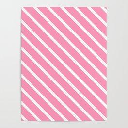 Musk Stick Diagonal Stripes Poster