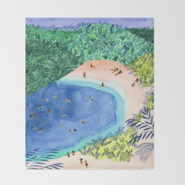 French Paradise Throw Blanket