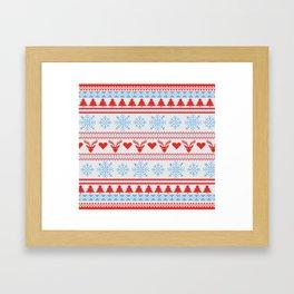 Ugly Christmas Design Framed Art Print