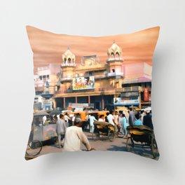Old Dehli Throw Pillow
