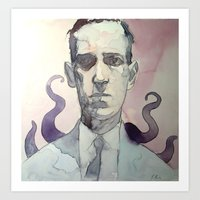 lovecraft Art Prints featuring LOVECRAFT by Germania Marquez