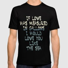 Like The Sea Mens Fitted Tee MEDIUM Black