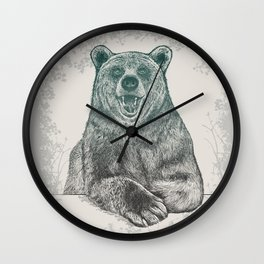 Bear Portrait Wall Clock