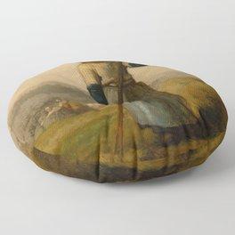 "Jean-François Millet ""Woman with a Rake"" Floor Pillow"