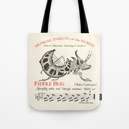 Musical Insects of the World  FIDDLE BUG Tote Bag
