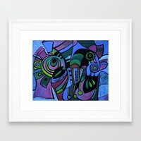 bugs Framed Art Prints featuring BUGS by Deyana Deco