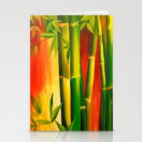 bamboo Stationery Cards featuring Bamboo by OLHADARCHUK