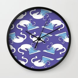 Cat Hat Wall Clock