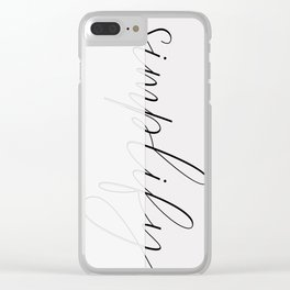Art of simplicity Clear iPhone Case
