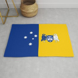 flag of canberra Rug