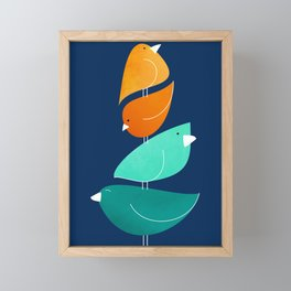 Bird Stack III Framed Mini Art Print