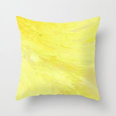Abstract Yellow Sun by Robert S. Lee Throw Pillow
