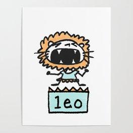 Rawwrrrr! says the Leo. Poster