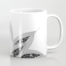 Gray Agave with Black Silver Glitter #1 #shiny #tropical #decor #art #society6 Coffee Mug