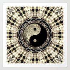 Yin Yang Geometry Mandala V1 Art Print