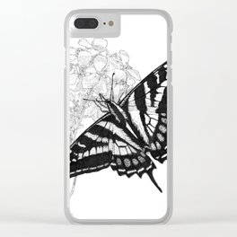 Western Tiger Swallowtail on a Western Wallflower Clear iPhone Case
