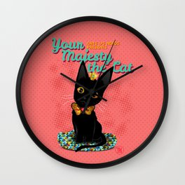 Your Majesty the Cat Wall Clock