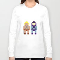he man Long Sleeve T-shirts featuring He-Man and Skeletor by Pixel Icons