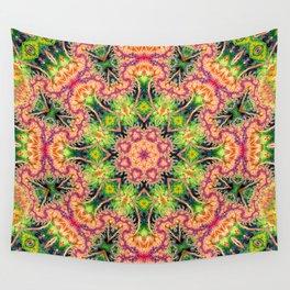 BBQSHOES: Kaleioscopic Fractal Mandala 1543K2 Wall Tapestry