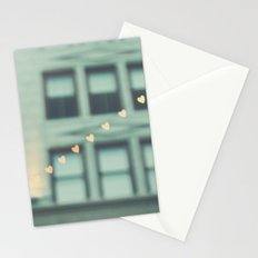 hearts. An Urban Romance No. 2., bokeh downtown Los Angeles photograph Stationery Cards