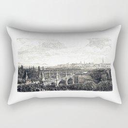 Vienna IV - Karlsplatz Entry of Empress Elisabeth over the Elisabeth Bridge in Vienna in 1854 Rectangular Pillow
