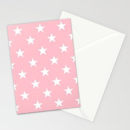 Stars (White/Pink) Stationery Cards