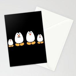 NGWINI - penguin family black Stationery Cards