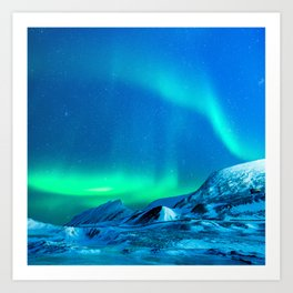 Northern Lights (Aurora Borealis) 3. Art Print