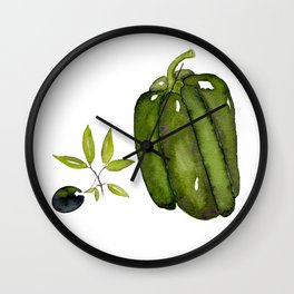 Pepper and Olive Wall Clock
