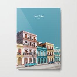 Havana, Cuba Travel Artwork Metal Print