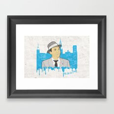 These Litte Town Blues Framed Art Print