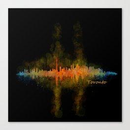Toronto Canada City Skyline Hq v02 dark Canvas Print