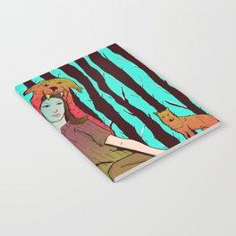 A women's among wolves Notebook