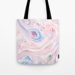 Luxury Rose Pink Marble Pastel Elegant Modern Art Tote Bag