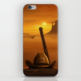 The sheriff is on the road iPhone Skin