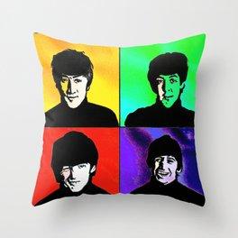 the fab 4 Throw Pillow