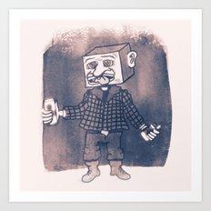 Mr Block Enjoys his Corporate Dividends Art Print