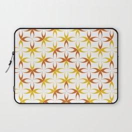orange sylized schematic flower Laptop Sleeve
