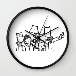 Tourists of New York City Illustration (Animals) Wall Clock