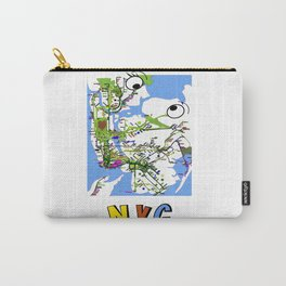 Kiss-NYC map Carry-All Pouch