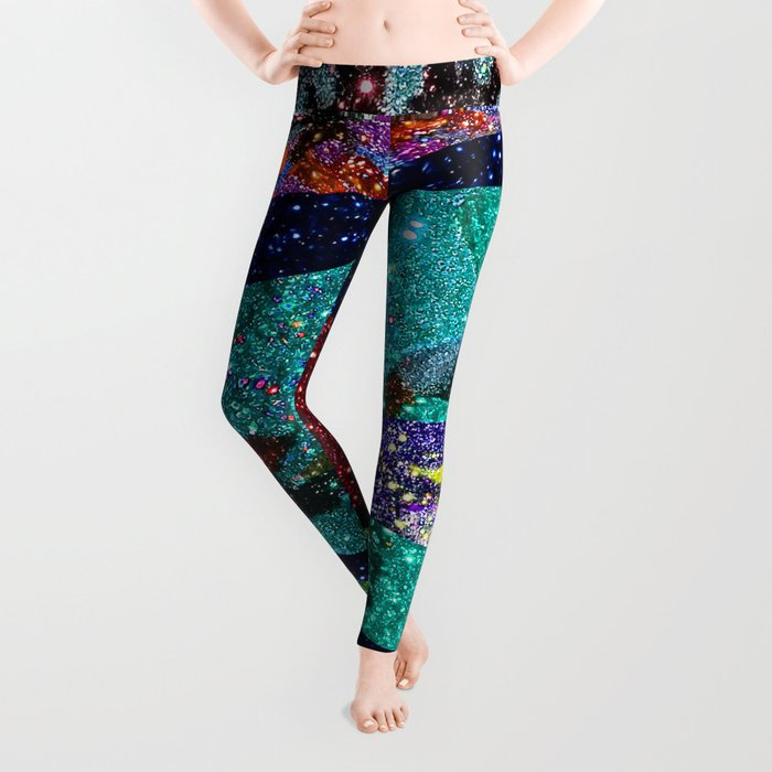 Peacock Mermaid Battlestar Galactica Abstract Leggings