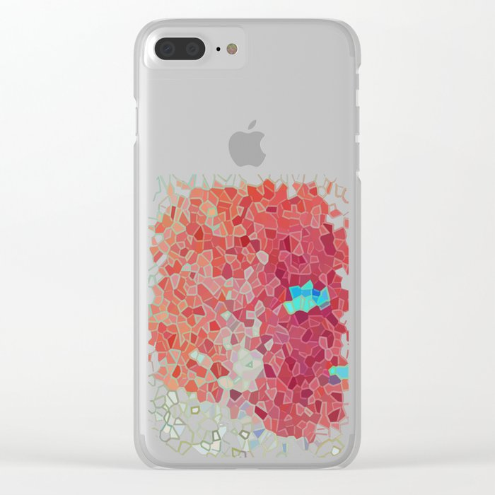 Blue Island Clear iPhone Case