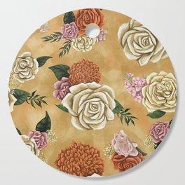 Gold luxury floral Cutting Board