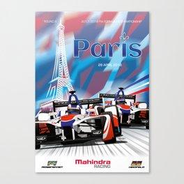 Mahindra Racing FIA Formula E Season 4 Paris E-Prix Poster Canvas Print
