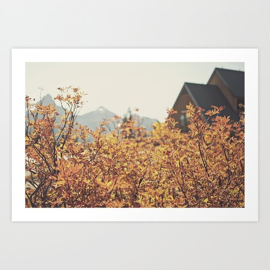 Mountain Lodge Art Print