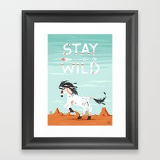 Stay Wild Framed Art Print