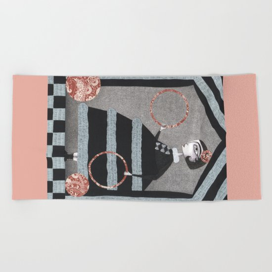 The Red Rings Beach Towel