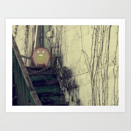 Lonely with Stairs Art Print