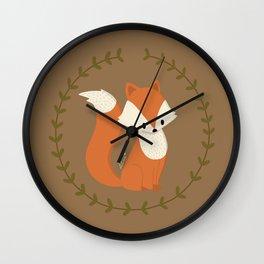 Renard roux // Red fox Wall Clock