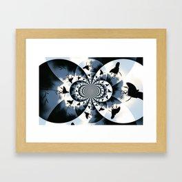 Silhouette Butterflies  Framed Art Print
